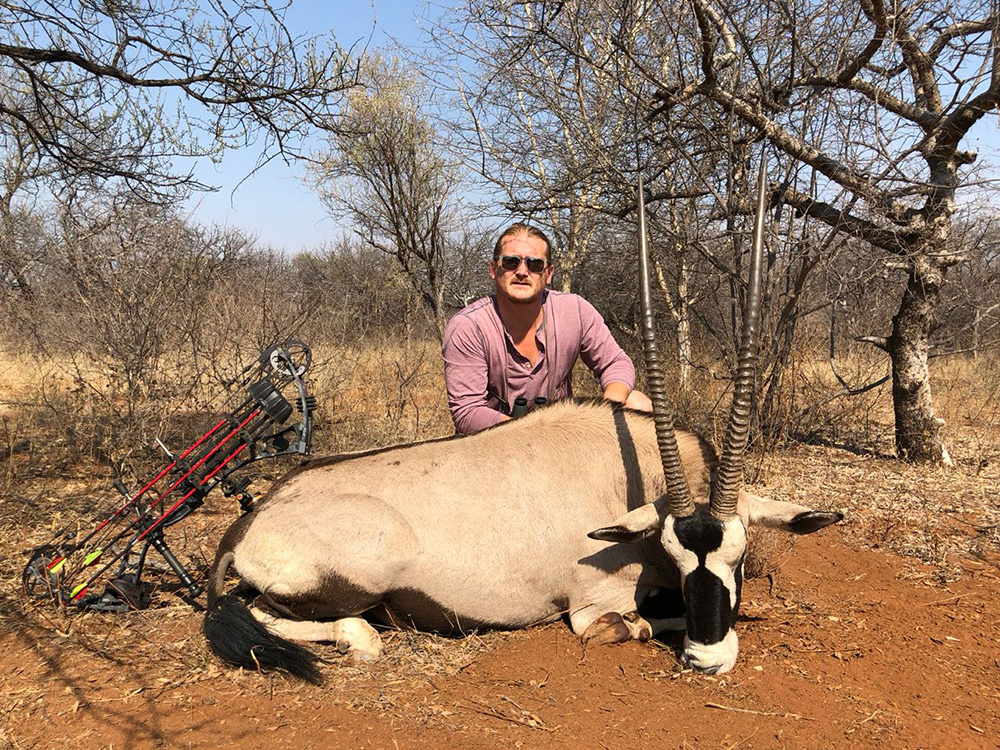 Bow hunting Gemsbok in South Africa at Bushmen Safaris