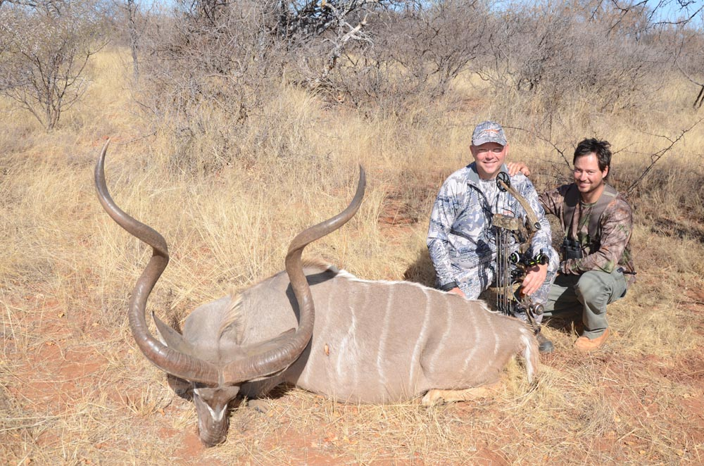 Bow hunting Kudu in South Africa at Bushmen Safaris