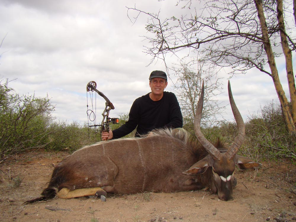 Bow hunting Nyala in South Africa at Bushmen Safaris