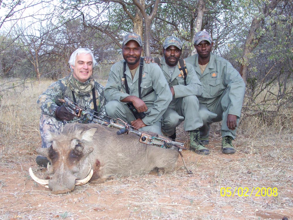 Bow hunting Warthog in South Africa at Bushmen Safaris
