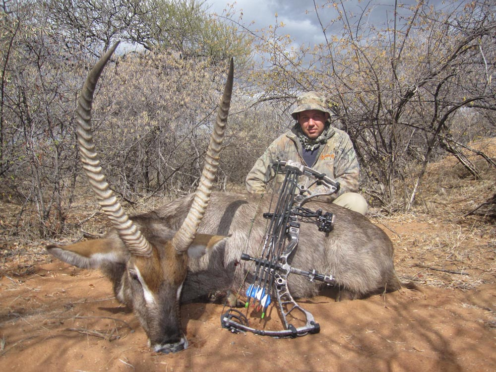 Bow hunting Waterbok in South Africa at Bushmen Safaris